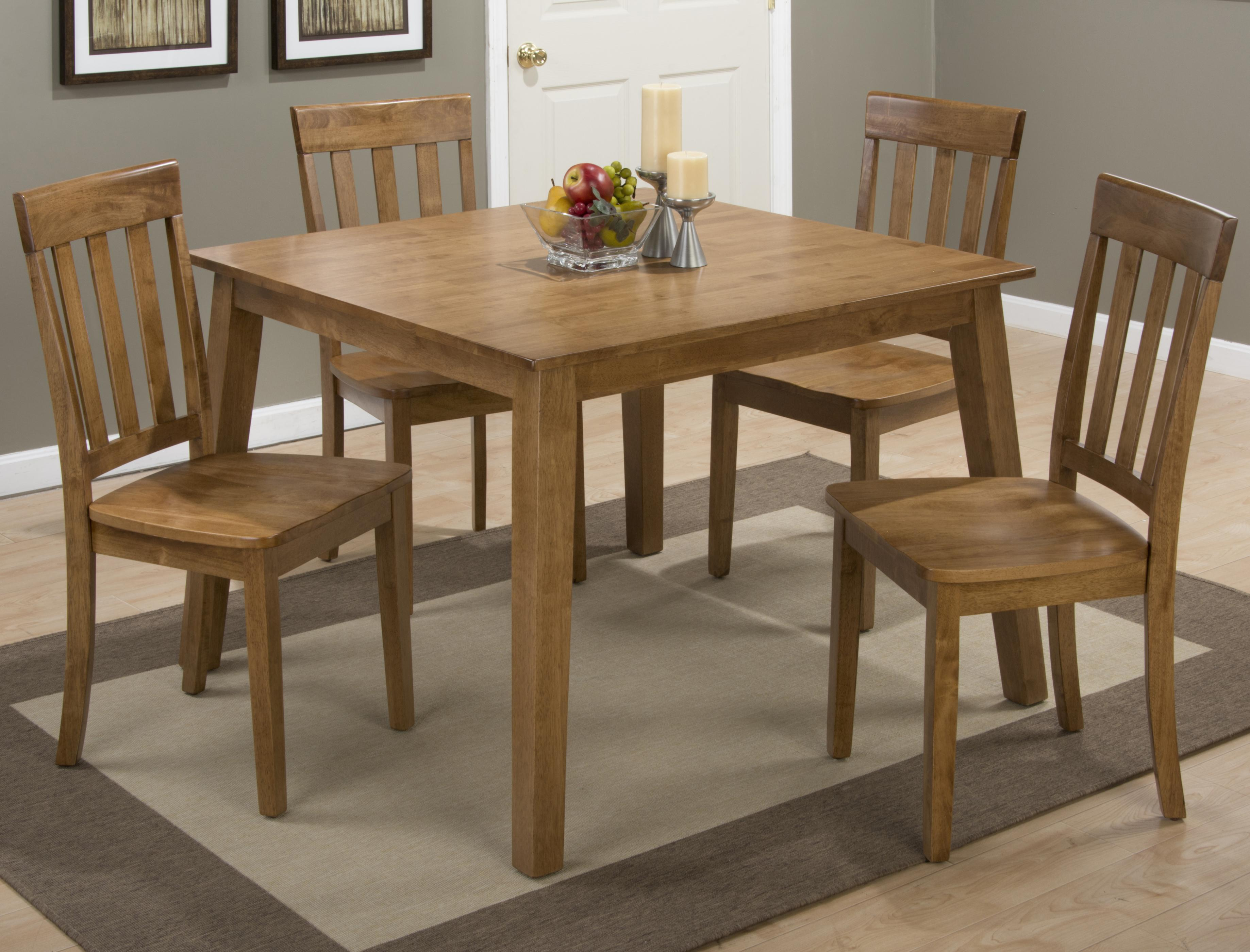 Square Table and 4 Chair Set