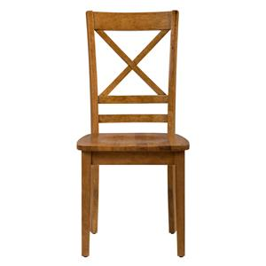 "Jofran Simplicity ""X"" Back Side Chair"