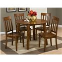 Jofran Simplicity Round Table and 4 Chair Set - Item Number: 452-28+4x319KD