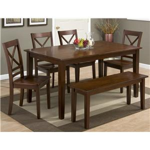 Simplicity Rectangle Dining Table and (