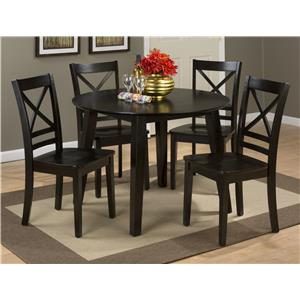 Jofran Simplicity Round Table and 4 Chair Set