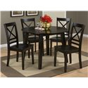 Jofran Simplicity Round Table and 4 Chair Set - Item Number: 552-28+4x806KD