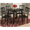Jofran Simplicity Round Table and 4 Chair Set - Item Number: 552-28+4x939KD