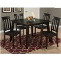 Jofran Simplicity Square Table and 4 Chair Set  - Item Number: 552-42+4x319KD