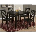 Jofran Simplicity Square Table and 4 Chair Set - Item Number: 552-42+4x806KD