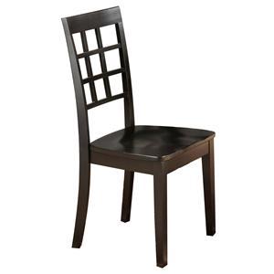 Jofran Simplicity Grid Back Side Chair