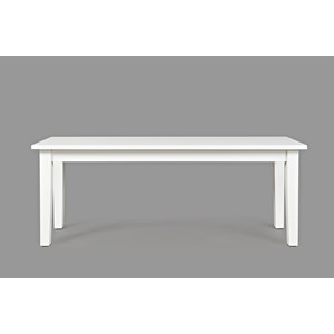 Jofran 3x3x3: White Wooden Bench