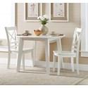 Jofran Simplicity 3 Piece Dining Set - Item Number: 652-28+2x806KD