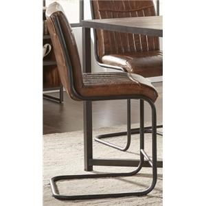 Morris Home Furnishings Sylvan Syracuse Counter Height Leather Stool