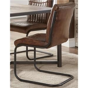 Morris Home Furnishings Sylvan Syracuse Leather Chair