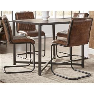 Morris Home Furnishings Sylvan Syracuse 5-Piece Counter Height Dining Set
