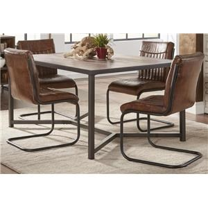 Morris Home Furnishings Sylvan Syracuse 5-Piece Dining Set