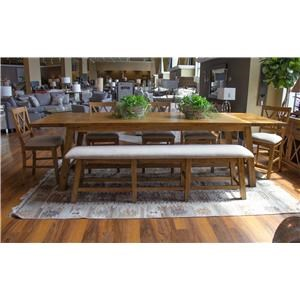 Counter Table, 5 Counter Chairs & Counter Be