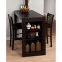 Jofran Tribeca Counter Height Table with 2 Chairs - Item Number: 810EC-48+2xEC-BS293KD