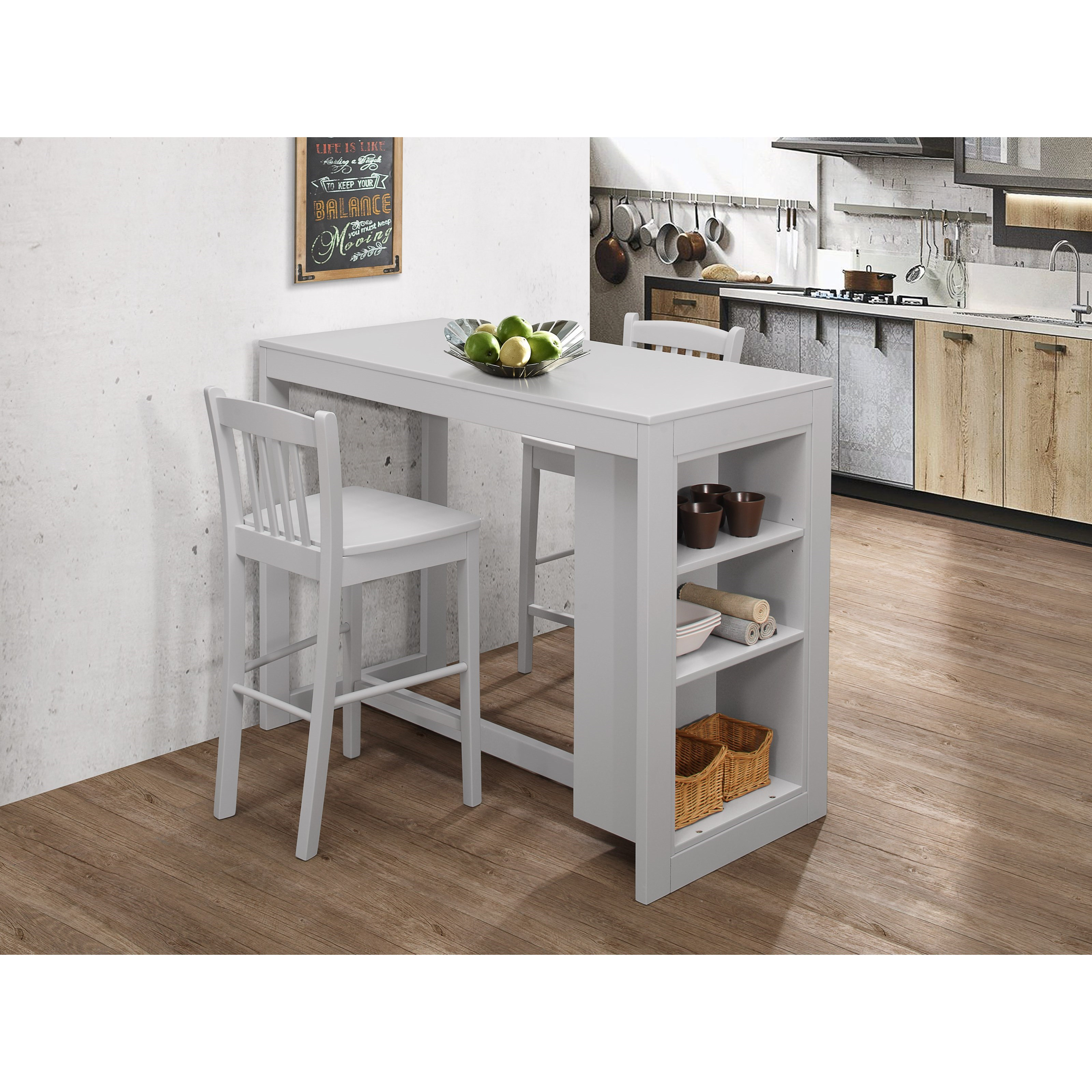Newcastle Counter Height Dining Table 2 Chairs 2 Stools: Jofran Tribeca Counter Height Table With 2 Chairs