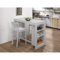 Jofran Tribeca Counter Height Table with 2 Chairs - Item Number: 813EC-48+2xEC-BS293KD