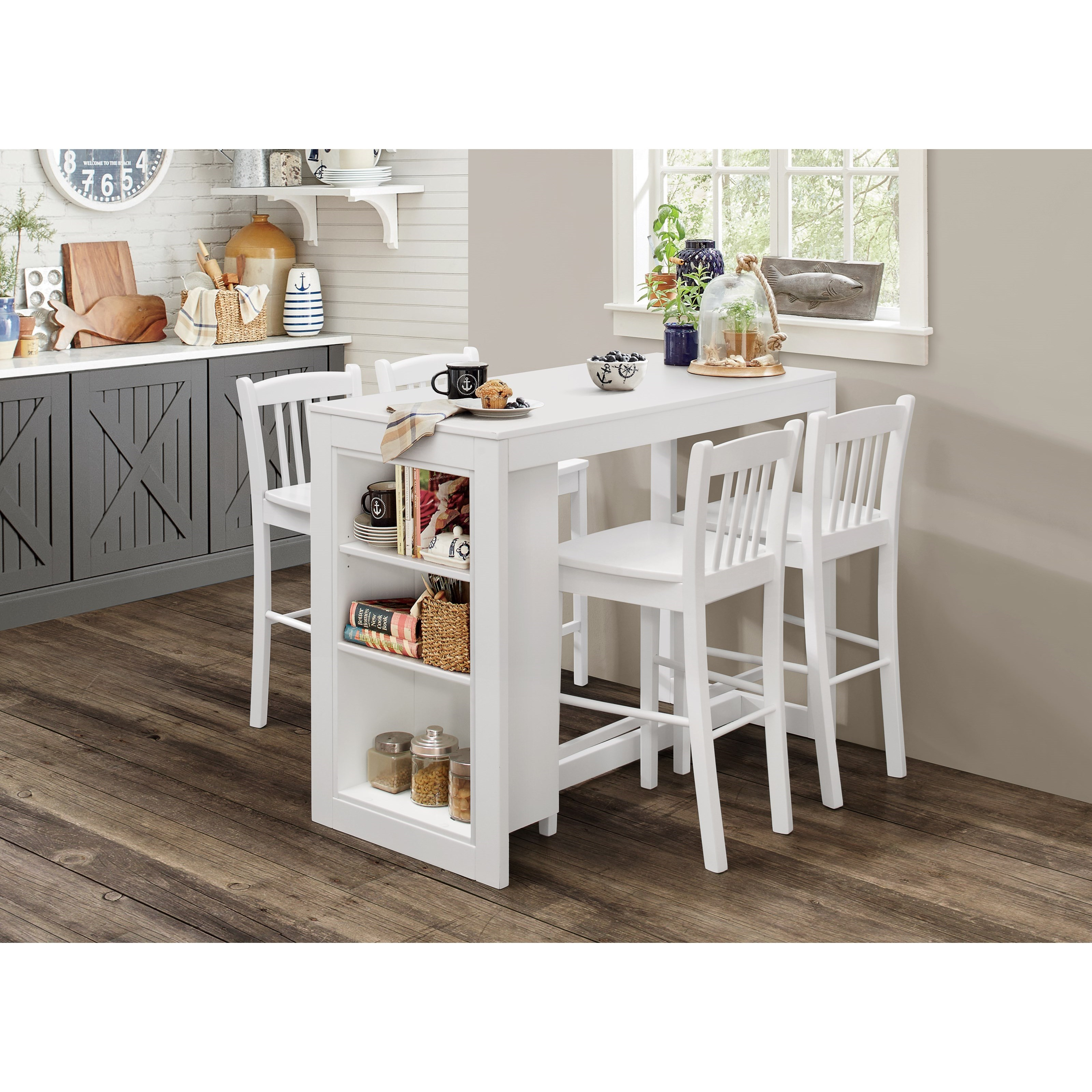 Jofran Tribeca Counter Height Table With 4 Chairs Value