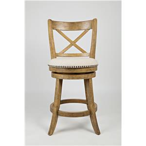 Jofran Turners Landing Turner's Landing X Back Swivel Stool