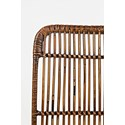Jofran Urban Dweller Wire and Rattan Dining Chair - Seat Back Detail Shot