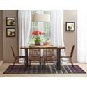 Jofran Urban Dweller Wood and Metal Dining Table
