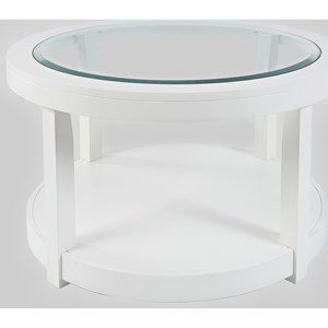 Round Castered Cocktail Table