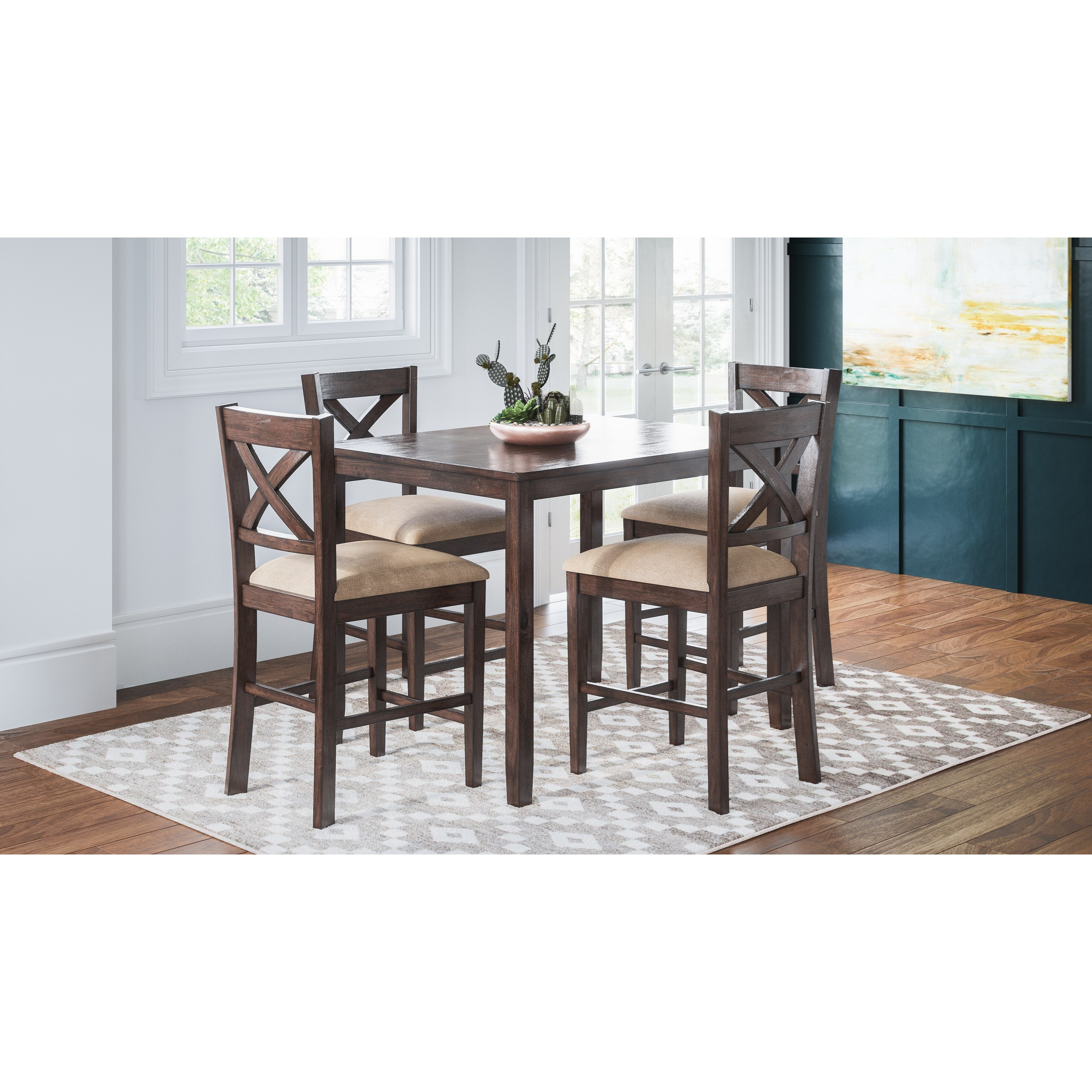 Brinkley Brinkley 5-Piece Counter Height Dining Set by Jofran at Morris Home