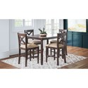 Jofran Walnut Creek 5 Pack Counter Height Dining Set - Item Number: 1876