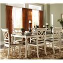 John Thomas Camden Rectangular Table Set - Item Number: T90-4284CXB+6xC90-43