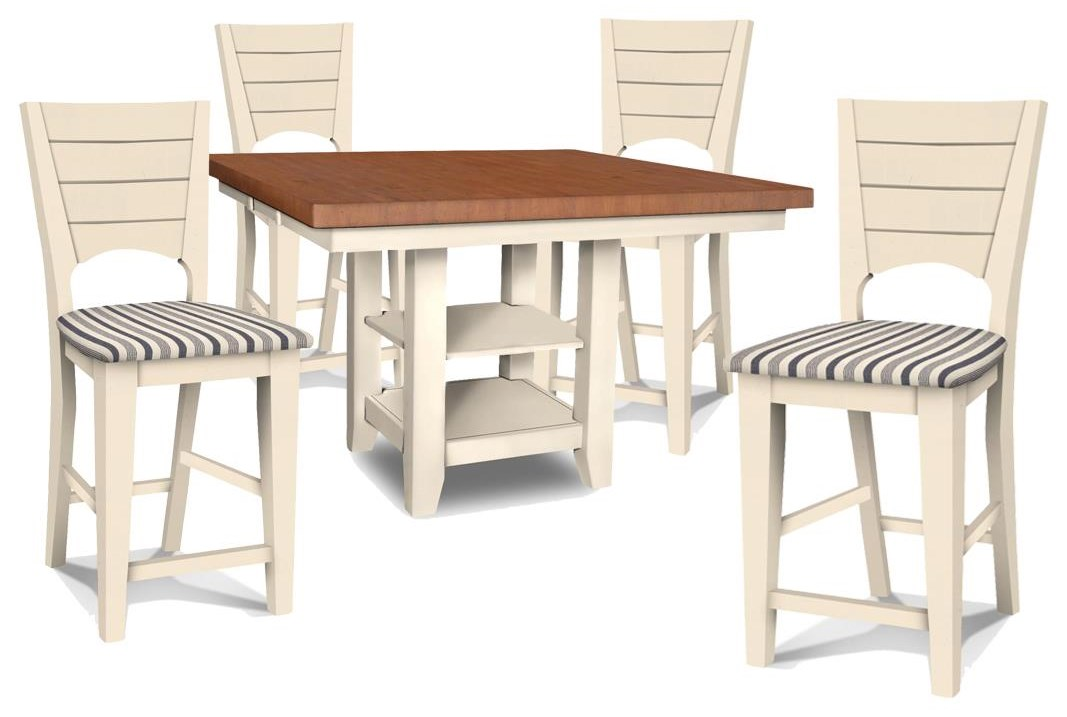 Canyon High Table and 4 Counter Stools by John Thomas at Johnny Janosik