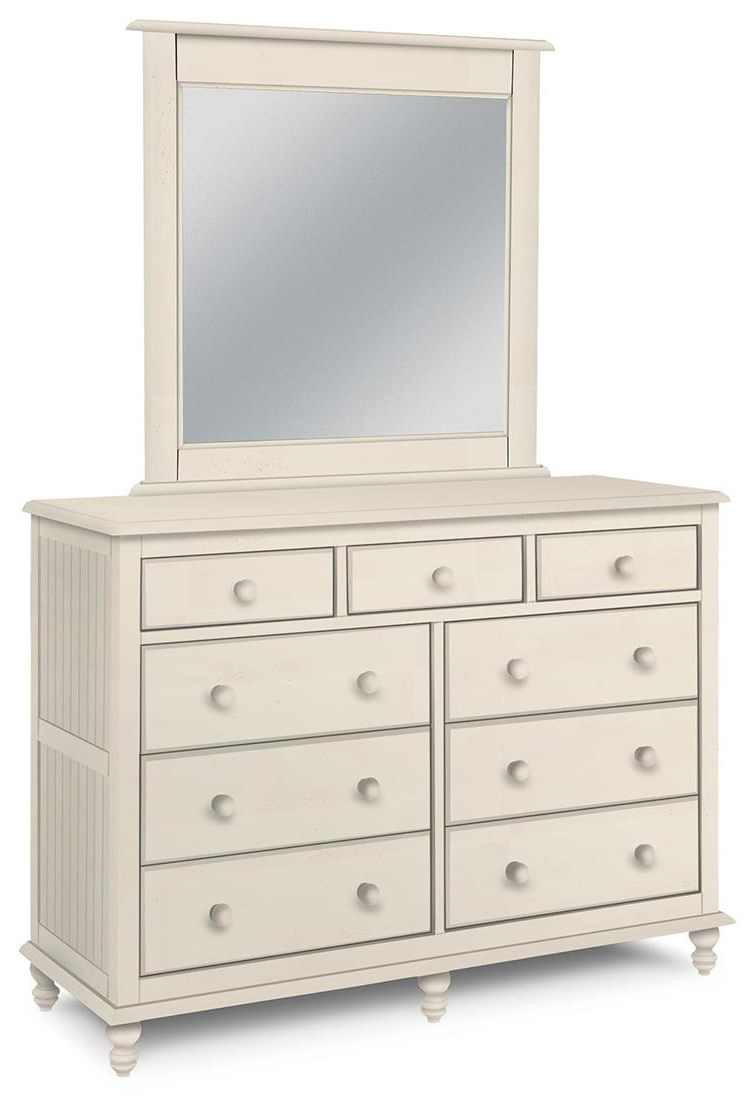 Cottage Bedroom Dresser and Mirror by John Thomas at Johnny Janosik