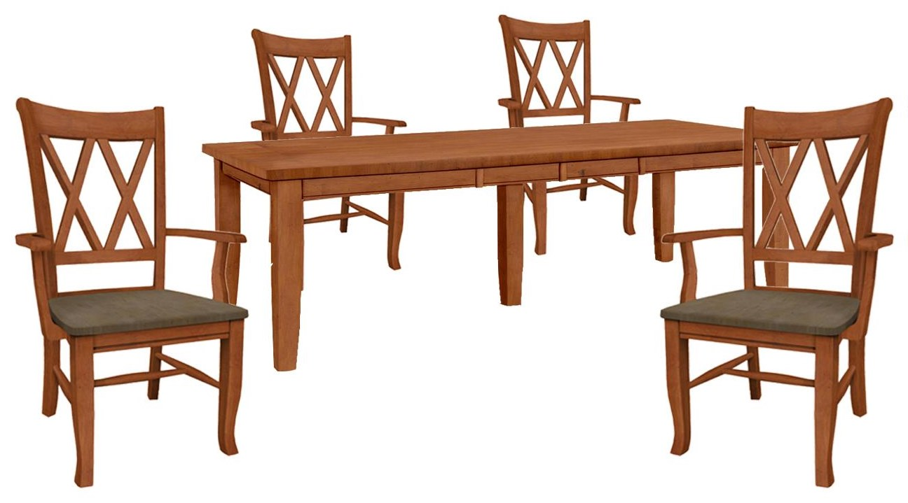 Dining Essentials Table and 4 Side Chairs by John Thomas at Johnny Janosik