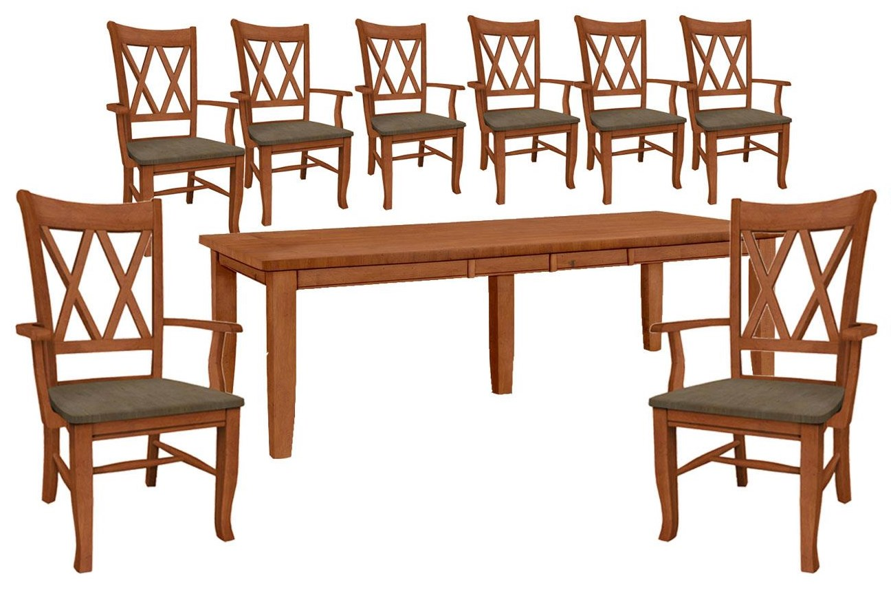 Dining Essentials Table and 8 Side Chairs by John Thomas at Johnny Janosik