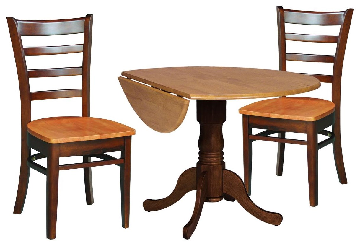 Dining Essentials Table and 2 Ladderback Chairs by John Thomas at Johnny Janosik