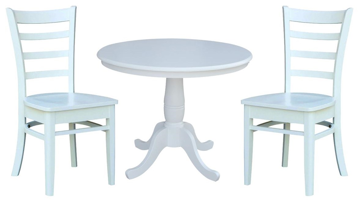 """Dining Essentials 36"""" Table and 2 Emily Chair by John Thomas at Johnny Janosik"""