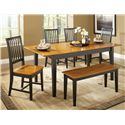 John Thomas Dining Essentials Contemporary Dining Bench - Shown in 6-Piece Dining Set