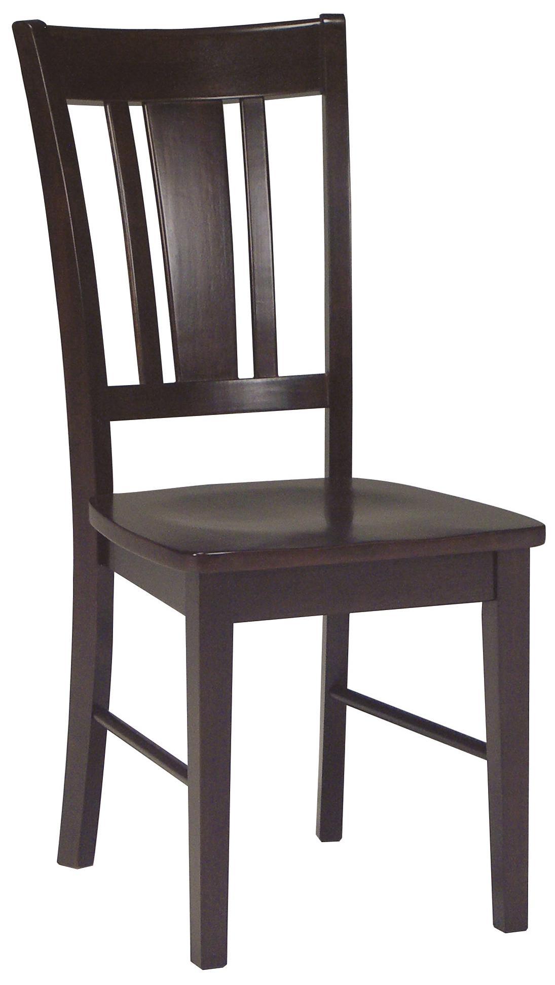 John Thomas Dining Essentials Splat Back Side Chair - Item Number: C15-10