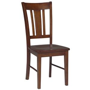 John Thomas Dining Essentials Splat Back Side Chair