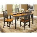 John Thomas Dining Essentials Slat Back Side Chair - C57-265 - Shown with Rectangular Dining Table