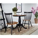 John Thomas Dining Essentials Spindleback Side Chair - C57-285 - Shown with Pedestal Table