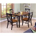 John Thomas Dining Essentials X-Back Side Chair - C57-613 - Shown with Rectangular Dining Table