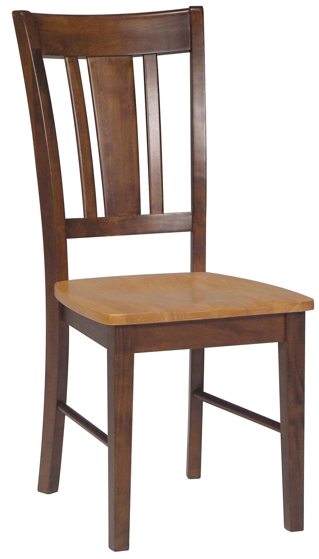 John Thomas Dining Essentials Splat Back Side Chair - Item Number: C58-10