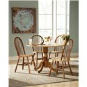 John Thomas Dining Essentials Windsor Dining Side Chair - Shown with Drop Leaf Pedestal Table