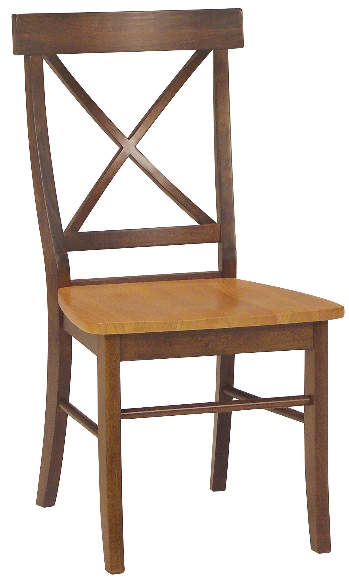 John Thomas Dining Essentials X-Back Side Chair - Item Number: C58-613