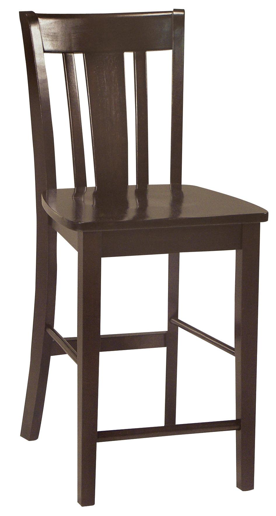John Thomas Dining Essentials Splat Back Bar Chair - Item Number: S15-102