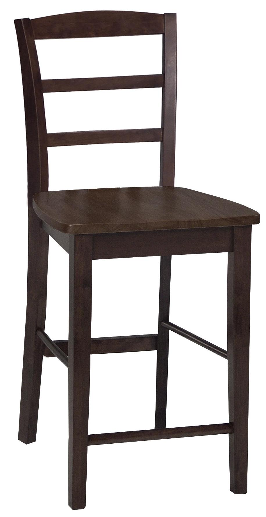 John thomas dining essentials ladderback bar chair reeds for Dining room essentials