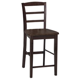 John Thomas Dining Essentials Ladderback Bar Chair
