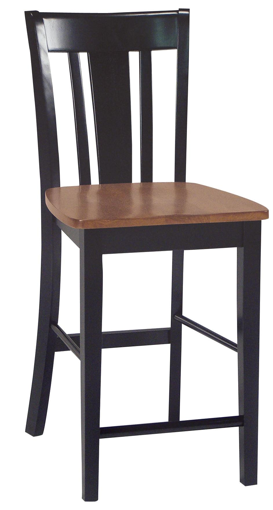 John thomas dining essentials splat back bar chair reeds for Dining room essentials