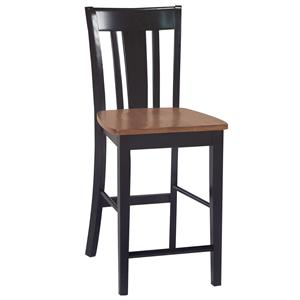 John Thomas Dining Essentials Splat Back Bar Chair