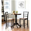 John Thomas Dining Essentials Ladderback Bar Chair - S57-402 - Shown with Pedestal Pub Table