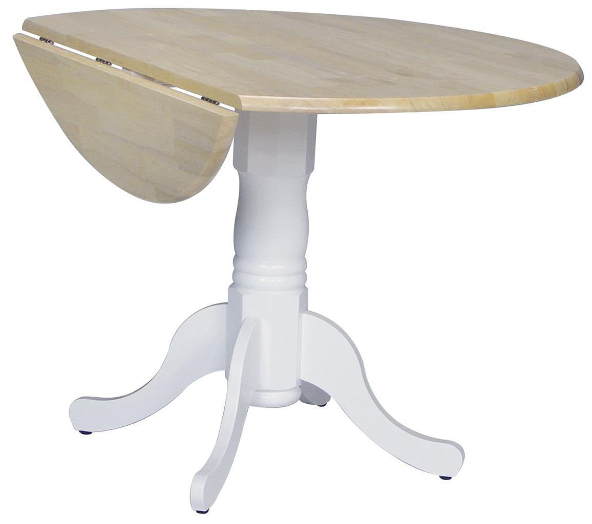 "John Thomas Dining Essentials 42"" Round Drop Leaf Pedestal Table - Item Number: T02-42DP"